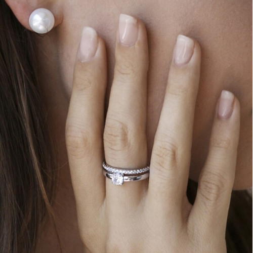 Anillo Plata LineArgent Doble Carril 12786-R