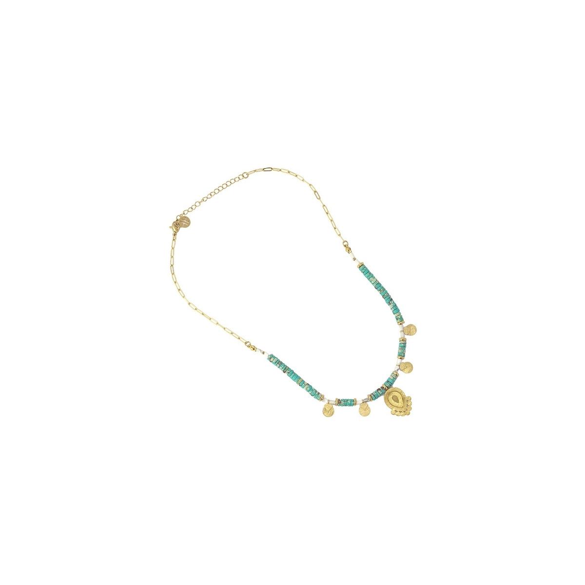 Collar Anartxy Azul Turquesa COA988AT