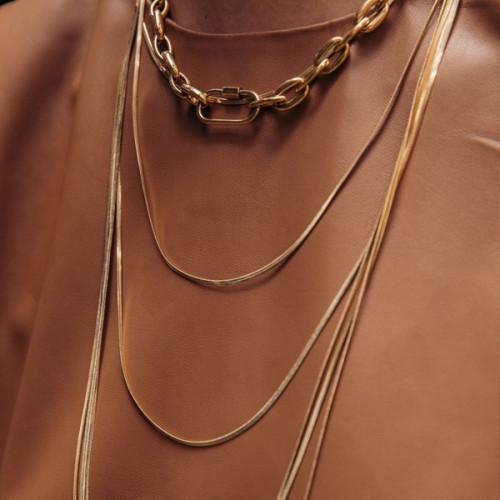 Collar Anartxy Cadenas Dorado BCO068D