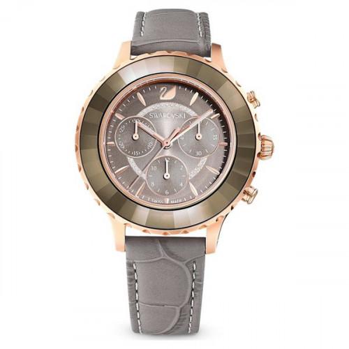 Reloj Swarovski Octea Crono Piel Gris 5452495