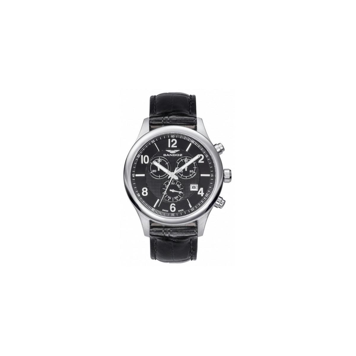 Reloj Sandoz Cronógrafo Acero 81369-55