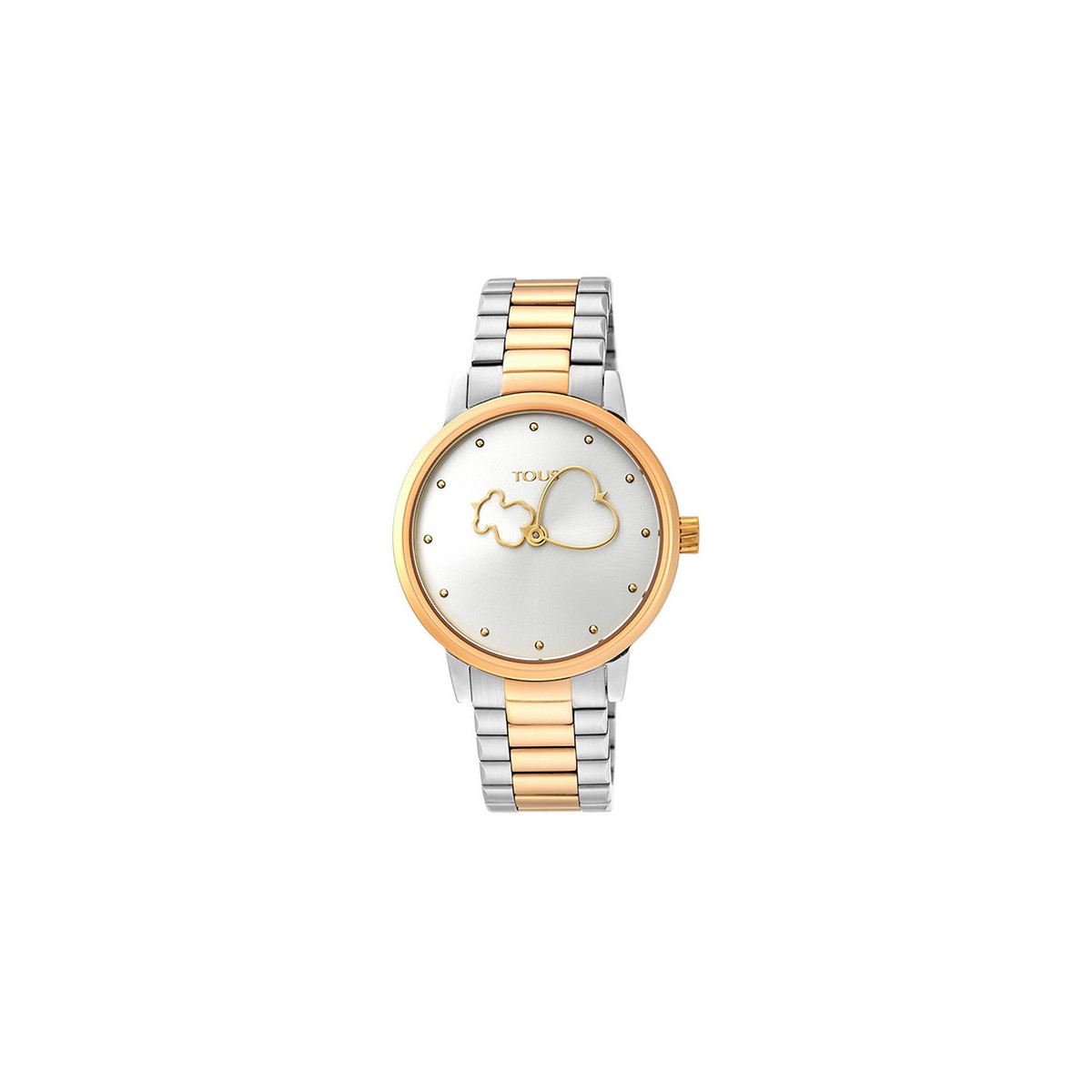 Reloj Tous Bear Time Bicolor IP Dorado 900350310