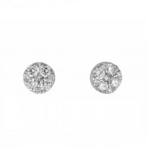 Pendientes Marina García 18K Oro Blanco Diamantes A4727