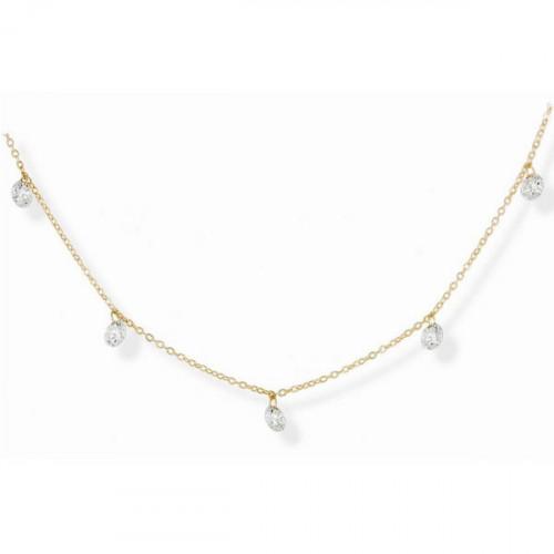 Gargantilla Marina García 18K Oro Amarillo Diamantes A6143AM