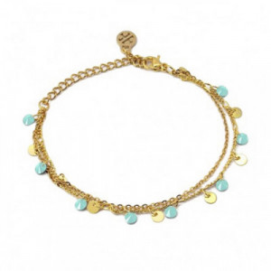Collar Doble Disco Oro bicolor 18K