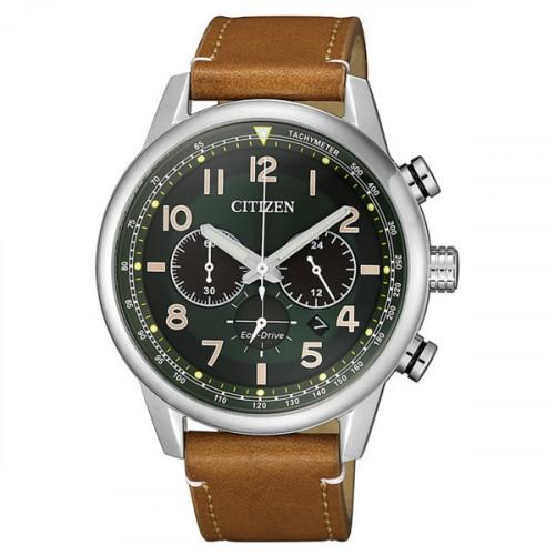 Reloj Citizen Eco Drive Cronógrafo Piel CA4420-21X