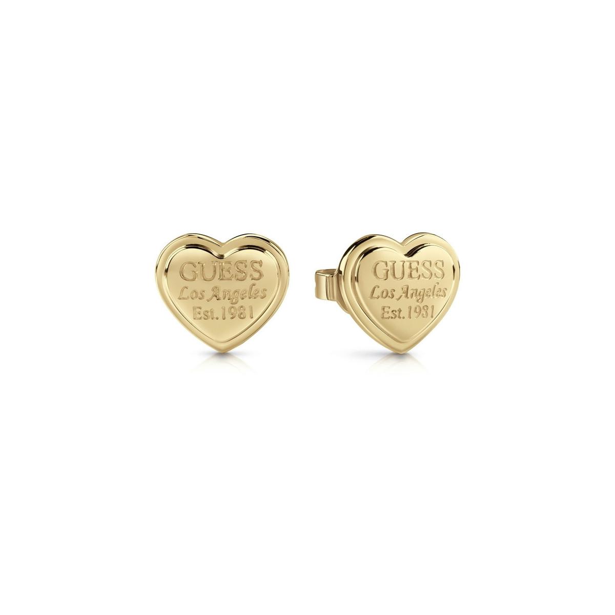 Pendientes Guess Acero Dorado Corazón Mujer UBE28009
