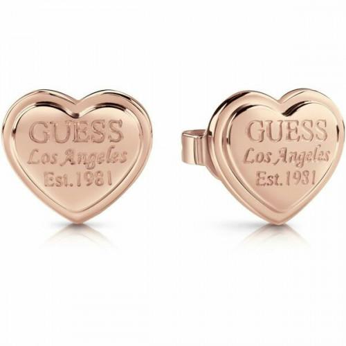 Pendientes Guess Acero Rosa Corazón Mujer UBE28010