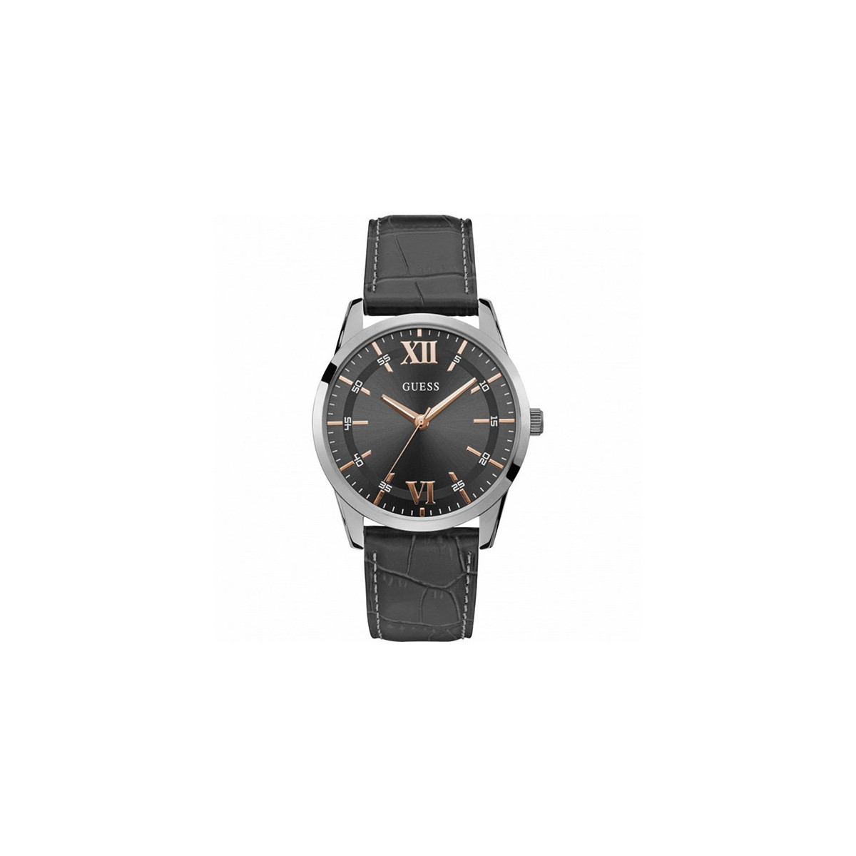 Reloj Guess Theo Piel Gris Oscuro W1307G1