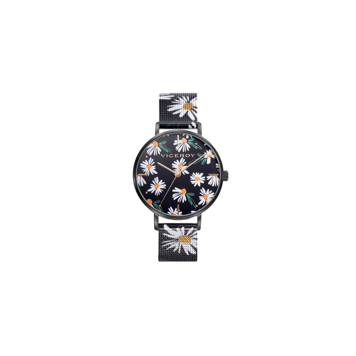 Reloj Viceroy Kiss Margaritas Negro Mujer 401140-57