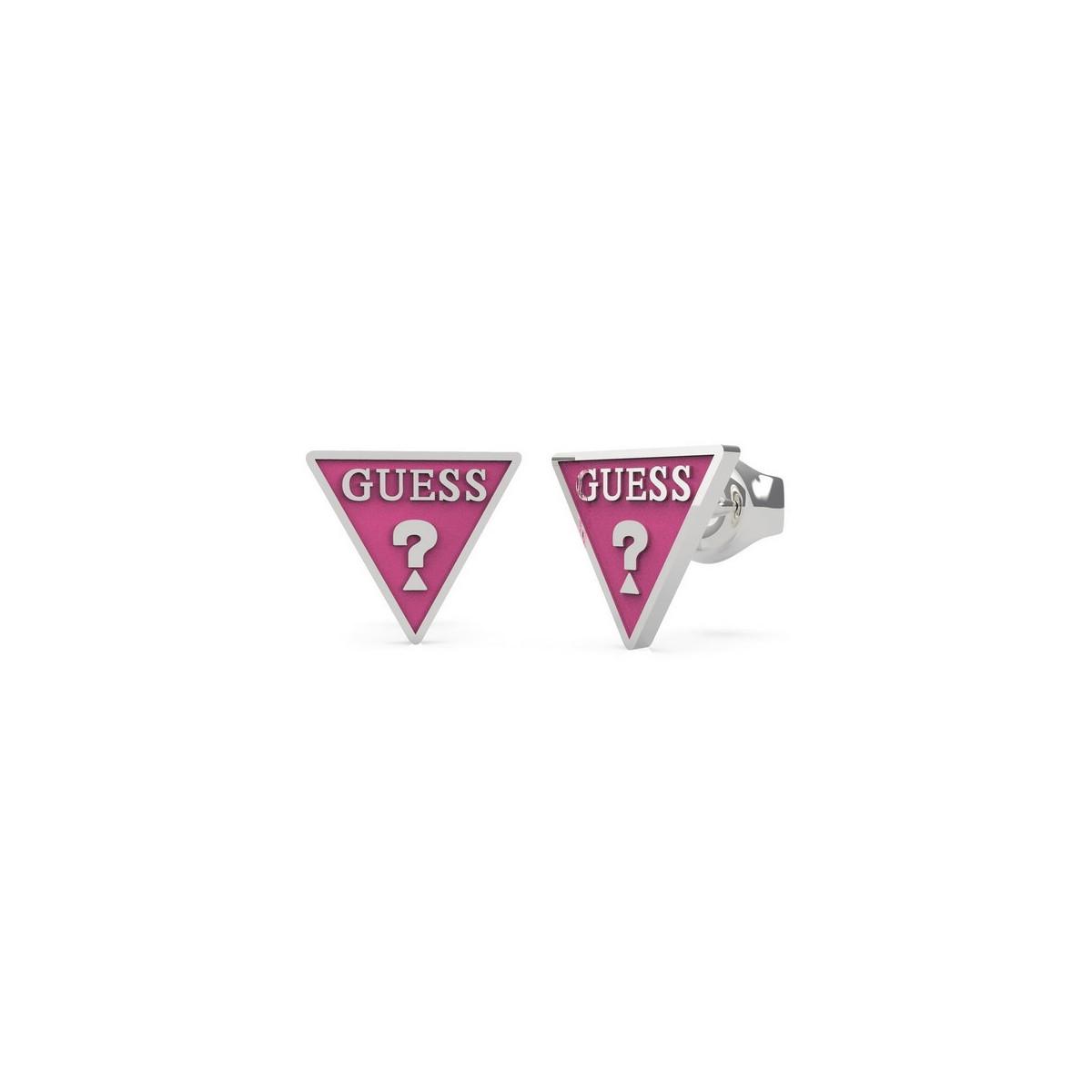 Pendientes Guess Triángulo Fucsia UBE70120