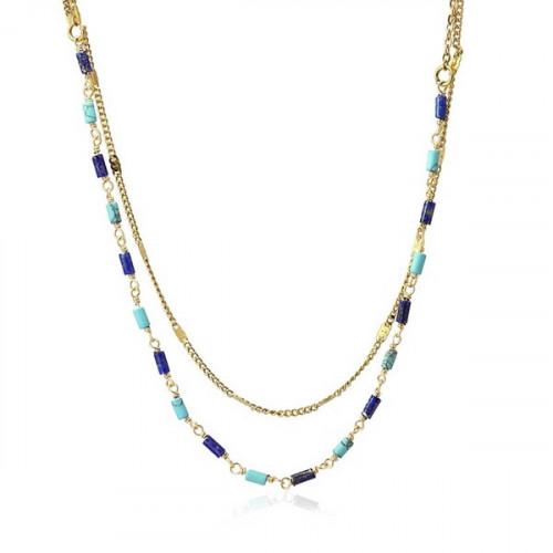 Colgante Anartxy Azul Dorado COA993AZU