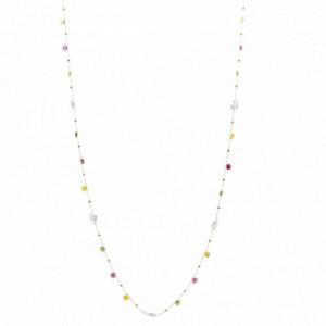 Collar Plata LineArgent Multicolor Perlas 17978-R-C