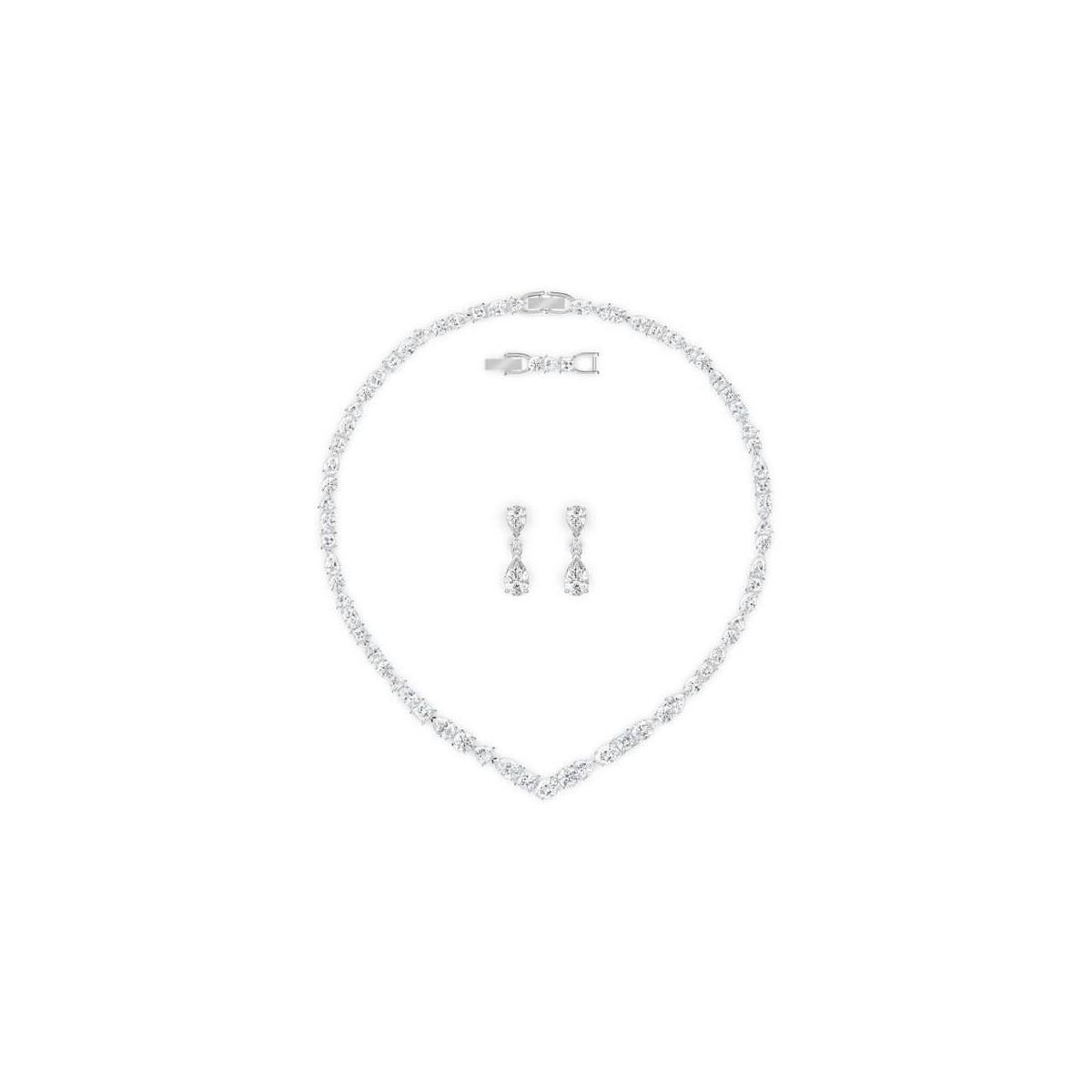 Conjunto Swarovski Tennis Deluxe Novia 5575495