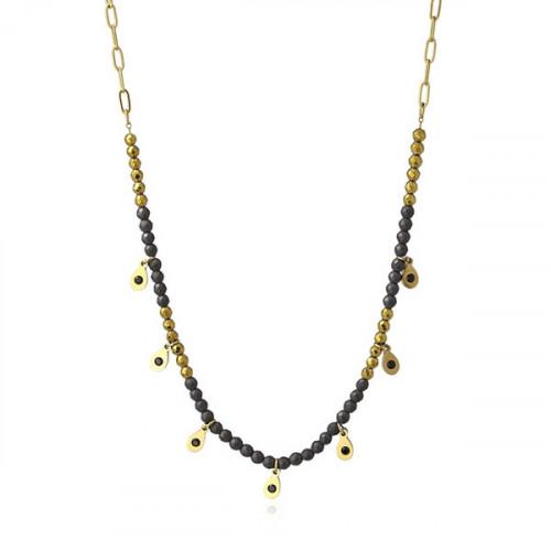 Collar Anartxy Hematite Dorado BCO149N