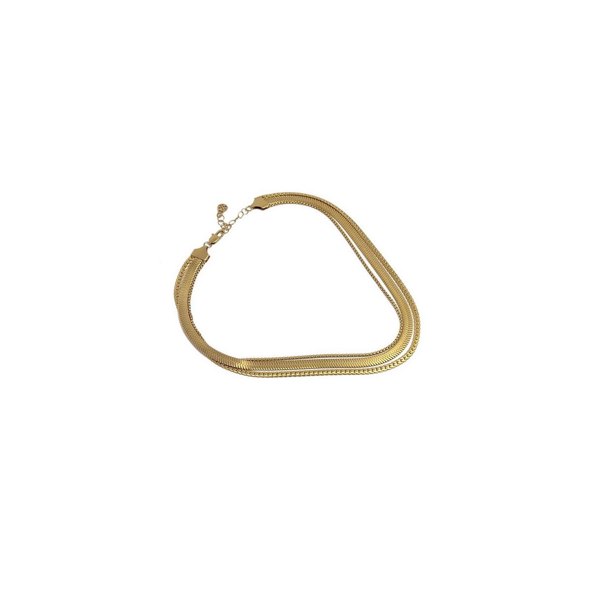 Collar Anartxy Snake Dorado BCO069D