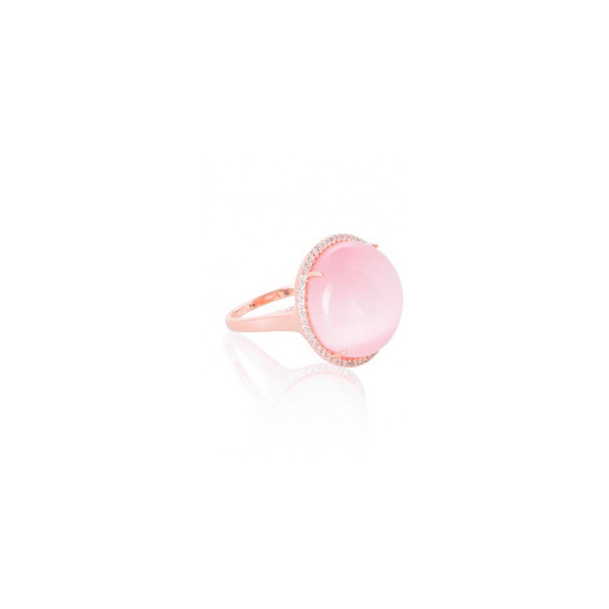 Anillo Plata Rosa Capri ROS