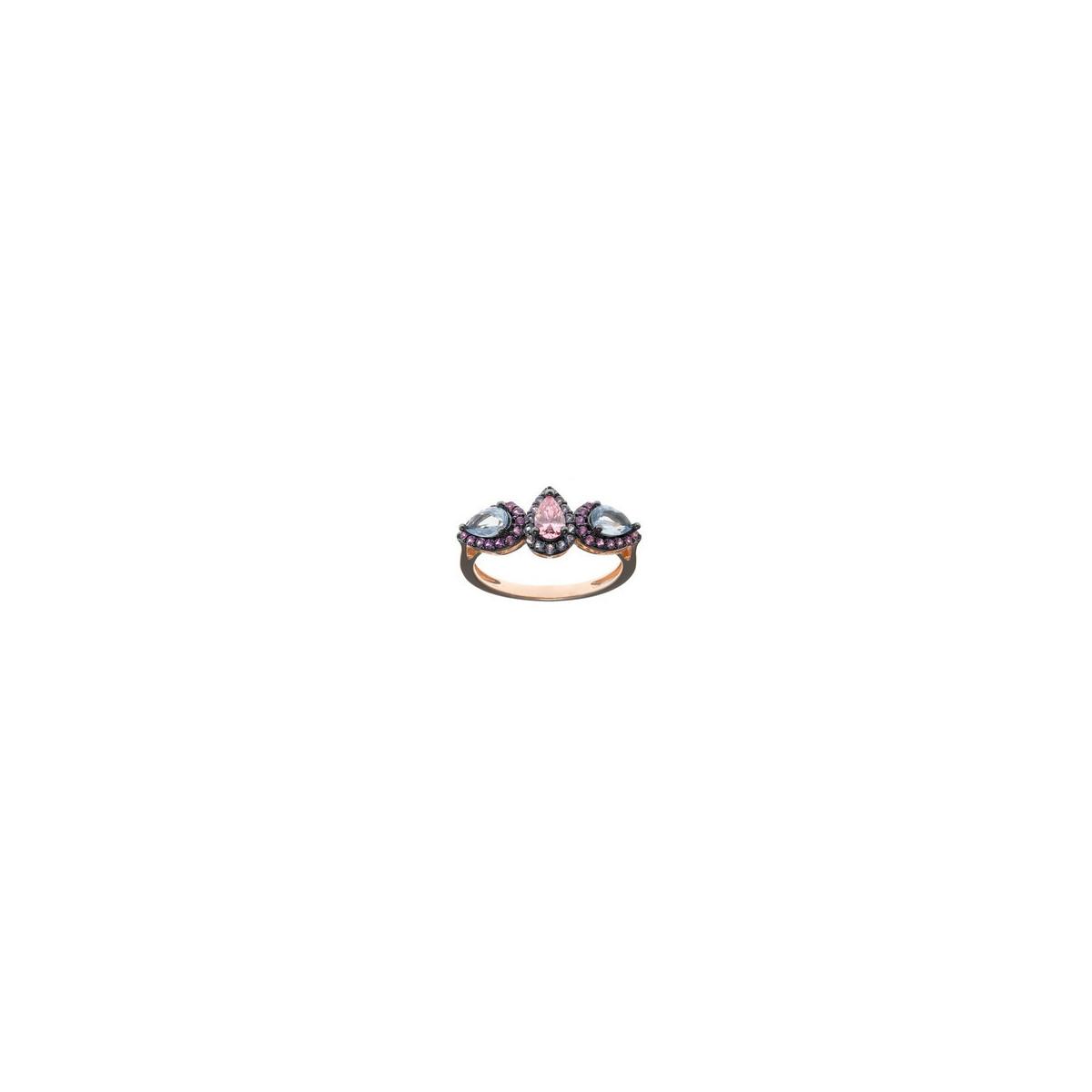 Anillo Salvatore Plata Baño Oro Rosa Mujer 234S0041/14