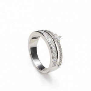 Anillo Plata LineArgent Doble Carril 18341-R