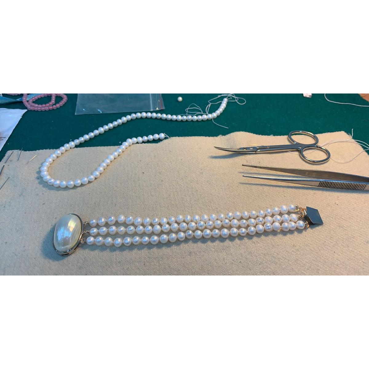 Pulsera VJ Perlas Cultivadas