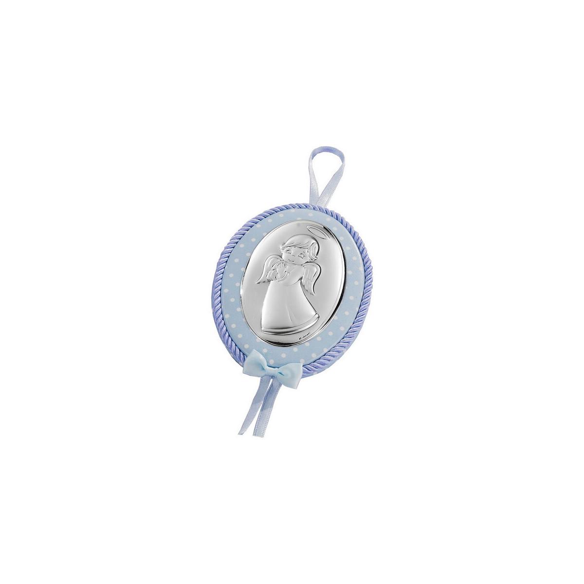 Medallón Cuna Bilaminado Azul Ángel
