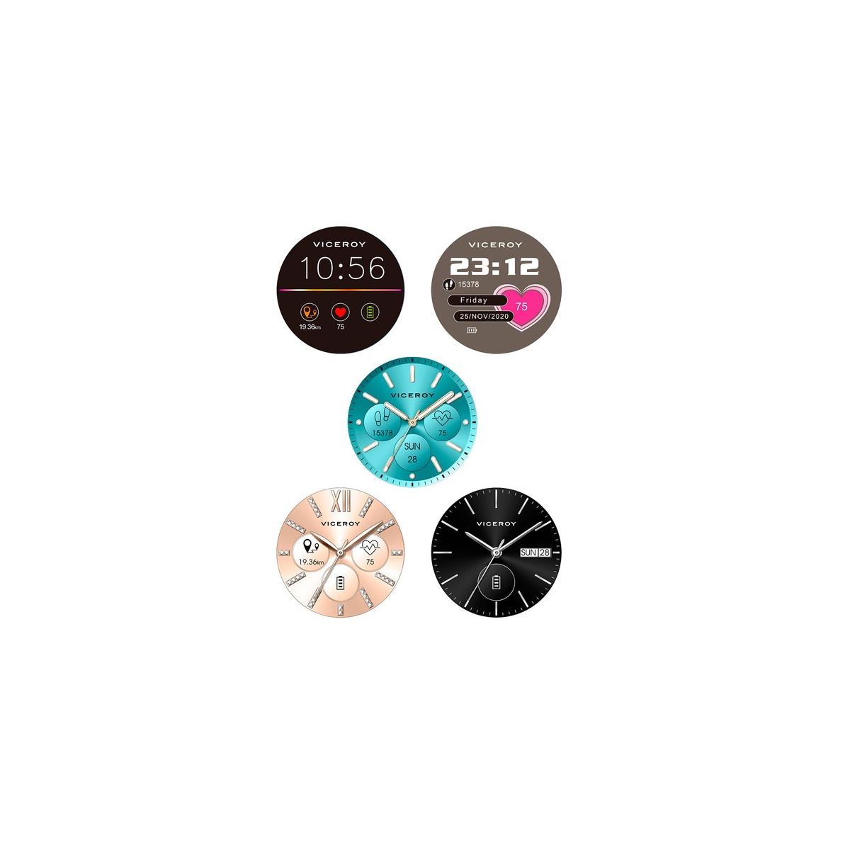 Reloj Viceroy Smart Ip Rosa Brazalete Y