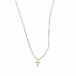 Collar Salvatore Plata Perlas 213C0095