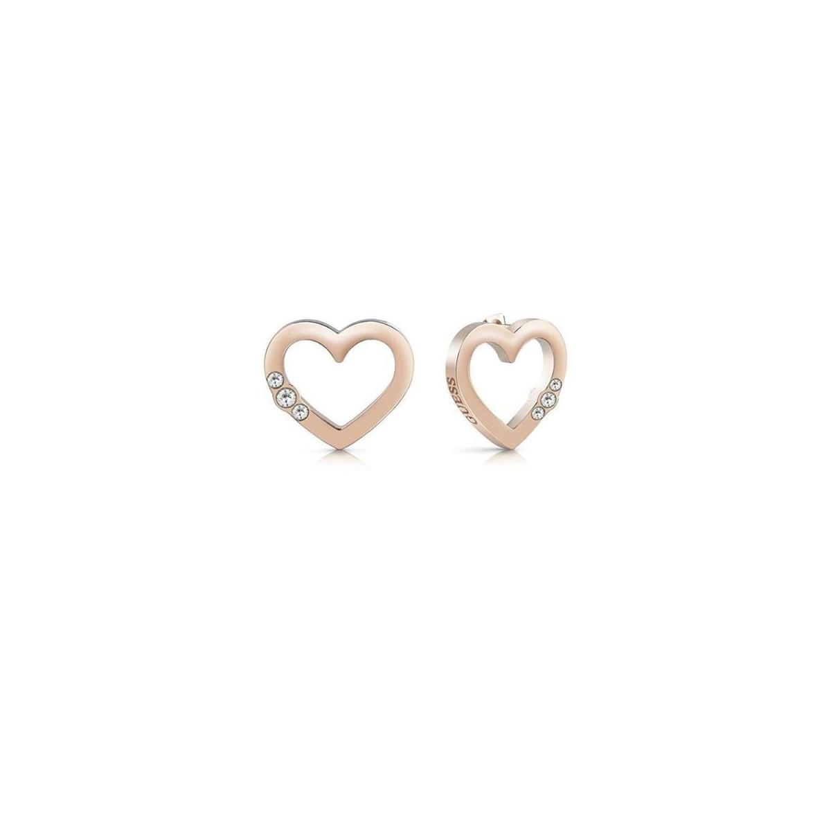 Pendientes Guess Corazón Acero Rosa Mujer UBE78062